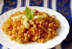 14 remekbe szabott tarhonyás egytálétel olcsón   NOSALTY Hungarian Recipes, Paella, Meat Recipes, Poultry, Risotto, Main Dishes, Grains, Food And Drink, Vegetarian