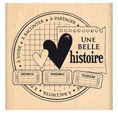 Tampon Caoutchouc - Florilèges Design - Histoire à partager