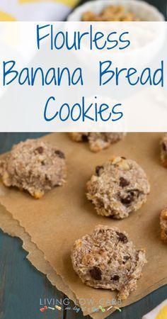 Flourless Banana Bread Cookies with no added sweetener | holisticallyengineered.com #grainfree #paleo