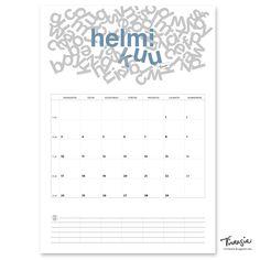 Helmikuun 2020 tulostettava seinäkalenteri #helmikuu2020 #kalenteri #tulostettava #ilmainen #calendar #february2020 #print #free #virtasia