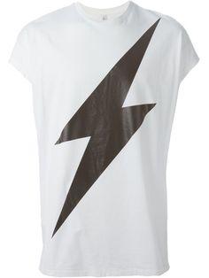 NEIL BARRETT Lightning Bolt T-Shirt. #neilbarrett #cloth #t-shirt