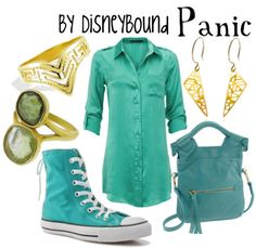 Panic from Hercules disney outfit Disney Themed Outfits, Disney Bound Outfits, Disney Dresses, Disney Clothes, Estilo Disney, Fandom Outfits, Casual Cosplay, Complete Outfits, Disneybound