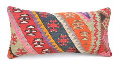 "Kilim pillow, Wool kilim cousin from Anatolia,30x60 cm, 12""x24"", Cotton back with Zip closure, Dry cleaning, Decorative pillow."