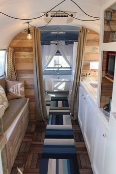 Shasta Camper Airstream Remodel For Full Time Living Gorgeous Airstream Renovation Tour Before And After Remodel Tiny Airstream Bambi, Airstream Basecamp, Airstream Trailers For Sale, Airstream Living, Rv Travel Trailers, Airstream Remodel, Airstream Renovation, Airstream Interior, Trailer Interior