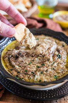 This rich and delicious Baba Ghanoush is a Middle Eastern classic and the perfect vegetarian appetizer for any occasion! (It can be also be made vegan. Eggplant Dip Recipes, Roasted Eggplant Dip, Eggplant Dishes, Roast Eggplant, Baked Eggplant, Greek Appetizers, Vegetarian Appetizers, Vegetarian Recipes, Cooking Recipes