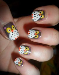 Cute but maybe just on one finger, and minus the pink dots