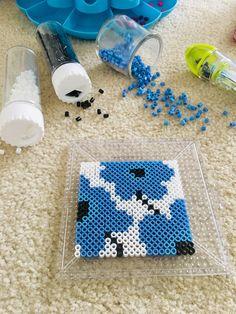 Pearls Beads Tea Coaster – Famous Last Words Quilting Beads Patterns Perler Bead Designs, Easy Perler Bead Patterns, Melty Bead Patterns, Perler Bead Templates, Hama Beads Design, Perler Bead Art, Beading Patterns, Loom Beading, Hama Beads Coasters