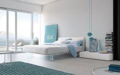 Bed with upholstered bedframe Modern bedroom Filo bed