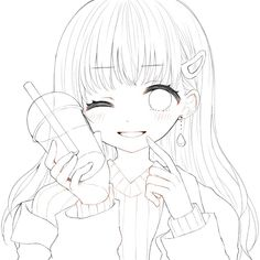 Anime Drawing Styles, Anime Character Drawing, Art Drawings Sketches Simple, Manga Drawing, Cute Drawings, Character Art, Manga Anime Girl, Anime Girl Cute, Lineart Anime