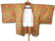 Vintage Japanese Haori in Colorful Yellow by JagataraArtVintSup