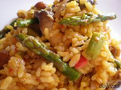 the best recipe for Spanish-style rice with vegetables Vegetable Rice, Vegetable Recipes, Rice Dishes, Food Dishes, Pasta Soup, Pasta Noodles, Cooking Together, Super Healthy Recipes, Healthy Foods