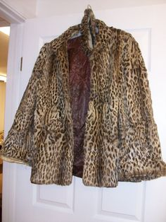 Vintage Leopard Fur Coat by MICSJWL on Etsy, $195.00