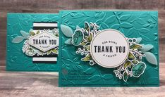 Bermuda Bay, Big Shot, Cherry Cobbler, Clear Wink of Stella, Layered Leaves EB Folder, Lots of Happy Card Kit, Night of Navy, Pear Pizzazz, Petal Burst Embossing Folder, Sahara Sand, Stampin' Blends, Stampin' Up!, Thank you, Birthday, Thinking of you, DIY