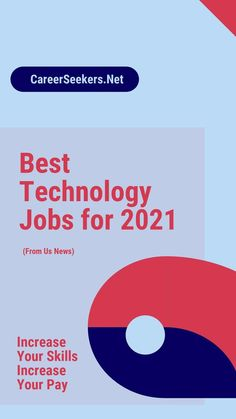 Best Technology Jobs for 2021: What are the best jobs for technology in 2021? I've included a link to a blog post that gives details about this. If you're looking for jobs in technology, check out this post and see what's right for you! #career #career transition #Information Technology Career Help, Best Careers, Good Job, Good Things, Technology, Link, Blog, Check, Tech