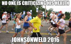 Gary Johnson Running