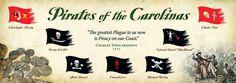 Flags of pirates who threatened the South Carolina coast. Courtesy of The History Workshop.