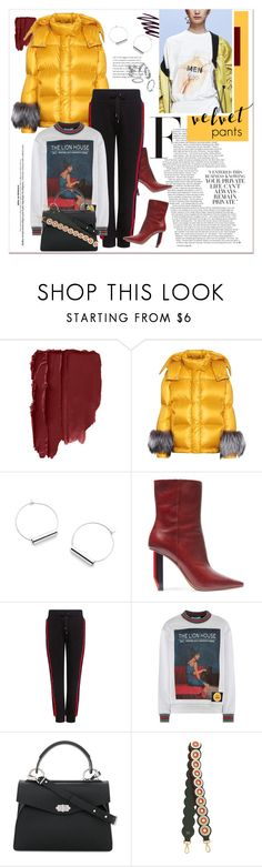 """#velvet"" by stylemeup-649 ❤ liked on Polyvore featuring Prada, Stila, Vetements, Public School, Proenza Schouler and Fendi"