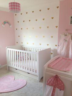 Amelie's bedroom finished! Girly pink modern nursery