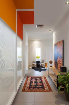 love the colored blocks on the ceiling
