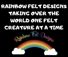 Felt Gifts, Facebook Sign Up, Small Businesses, True Stories, Rainbow, Make It Yourself, Handmade Gifts, Etsy, Design