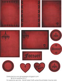 Gothic Freebie for making cards, tags, and collages