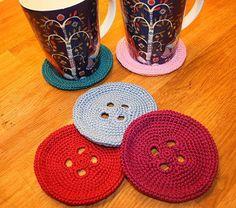 Button crochet coasters