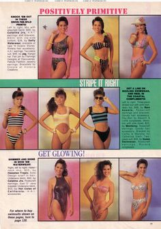 LOL!! Loved the 80's swimwear! I actually remember seeing this ad... Teen Magazine i think.  That's Tiffany Amber Theissen in the stripes.