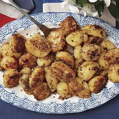 """My Nan always made the crispiest potatoes,"" recalls Thomas. ""She'd add a little bacon or beef drippings, which made it savory, too."" In his version, the potatoes get coated in a deeply flavored paste made from anchovies, fennel, and rosemary that forms a delicious brown crust during roasting."