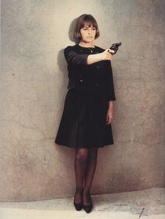 Jeanne Moreau in La mariée était en noir, 1968, François Truffaut.