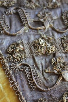 Early 18th Century French Metallic Gold Stomacher and Rare