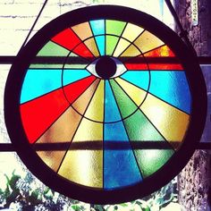 All Seeing Eye Rainbow Stained Glass