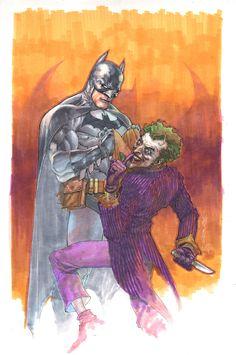 Batman and Joker sketch by Leinil Yu