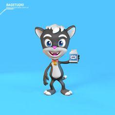 Cute Cat Mascot Design on Behance #characterdesign #cartoon #character #cat #3d #render #mascot #milk #design #cinema4d #cute #kawaii #neko