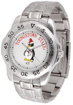 Mens Youngstown State Penguins - Sport Steel Watch