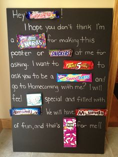 Ask someone to prom with a candy card so craf t pinterest candy bar poster ccuart Image collections