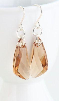 Golden Shadow Swarovski Crystal Dangle