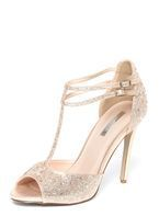 Womens **Showcase Gold 'Swag' Sandals- Gold