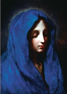 """""""The Blue Madonna"""" -- Attributed to Carlo Dolci -- Italian -- (Florence -- Oil on Canvas -- Ringling Museum of Art, Florida Lady Madonna, Madonna And Child, Madonna Art, Religious Paintings, Religious Art, Ringling Museum, Religious Pictures, Blessed Mother Mary, Italian Painters"""
