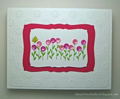 Sharp Notes: Impress flower stamp, Lifestyle Crafts ef, Pretty Pink Posh sequins