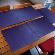 Lugar Americano Azul Marinho com 06 Peças   Formosinha Decorações