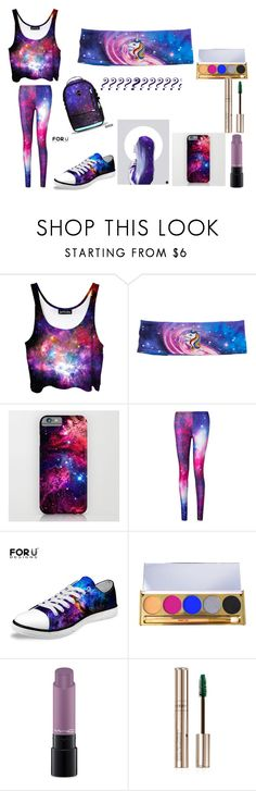 """""""galaxy girl"""" by m-violeta ❤ liked on Polyvore featuring Winky Lux, MAC Cosmetics and By Terry"""