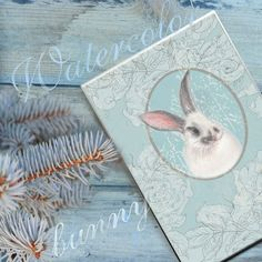 Hand drawn watercolor fluffy bunny by Arevka on Creative Market