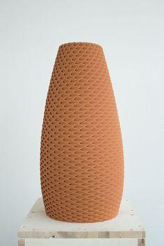 3D printed clay ceramic