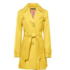Via Spiga Pleated Trench Coat Small ($130) ❤ liked on Polyvore