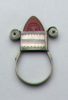 Africa   Pendant or hair ornament ~ 'tanfouk n'azraf' ~ from the Kel Air Tuareg people of the In Gall Region of Niger   20th century   Silver and glass