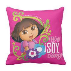 Dora The Explorer | Hola Soy Dora! Throw Pillow
