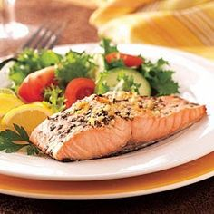 Top 10 Grilled Fish Recipes Enjoy these top-rated grilled fish recipes outdoors this summer. Recipes include gingered honey salmon, tilapia piccata and even grilled fish tacos. Grilled Salmon Recipes, Baked Salmon, Tilapia Recipes, Cooking Tips, Cooking Recipes, Healthy Recipes, Cooking Steak, Cooking Games, Delicious Recipes