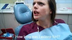 This is hilarious...A husband took this video of his wife AFTER she had her wisdom teeth removed. via YouTube.