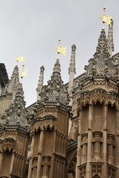 Westminster Abbey. Weather vanes on the chapel of Henry VII.