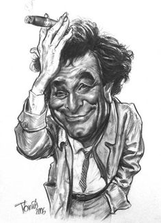 Cartoon: Colombo Peter Falk (medium) by Tonio tagged caricature,portrait,actor,filmstar,usa,hollywood